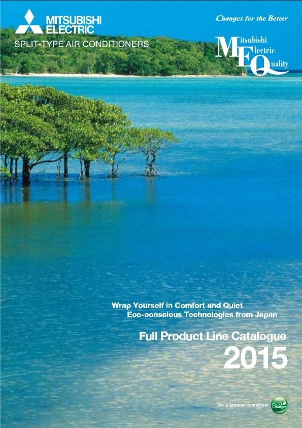 пълен каталог Климатични системи Mitsubishi Electric 2015