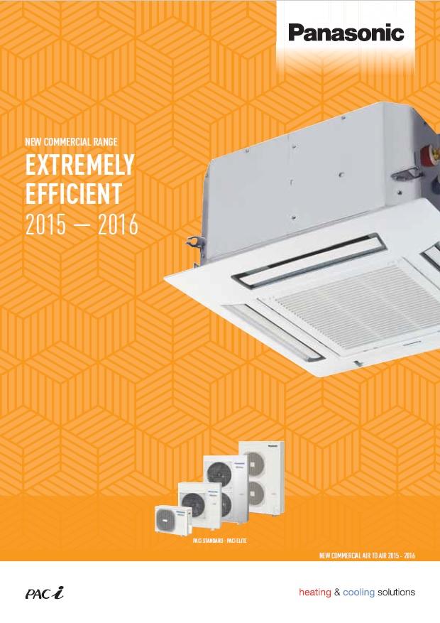 Каталог професионални климатици Panasonic PACi 2015