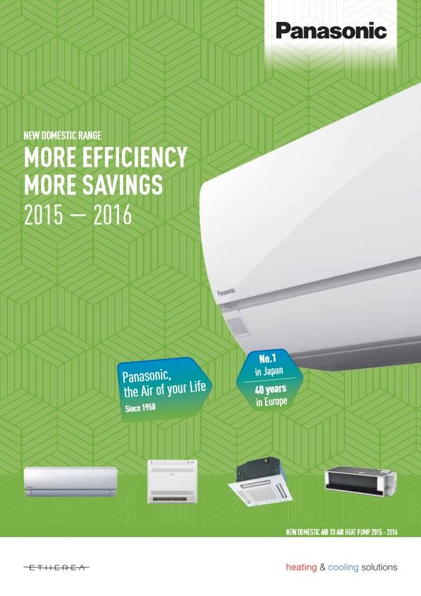 Каталог климатици Panasonic RAC 2015